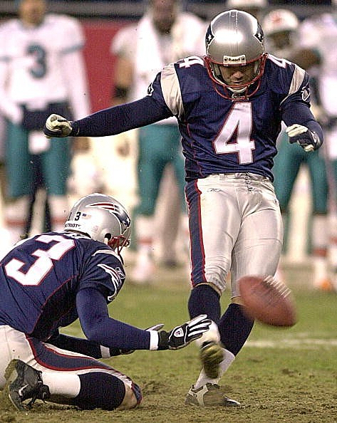 Kicker Adam Vinatieri of the New England Patriots